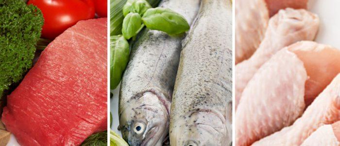 Гликемический индекс мяса и рыбы: таблица показателей